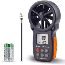 Цифровой анемометр ручной измеритель скорости ветра BT-100 для измерения скорости ветра, температуры и холода ветра с подсветкой lcd