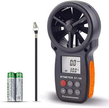 Anemometr cyfrowy ręczny miernik prędkości wiatru BT-100 do pomiaru prędkości wiatru temperatury i chłodu wiatru z podświetlenie lcd tanie i dobre opinie BTMETER