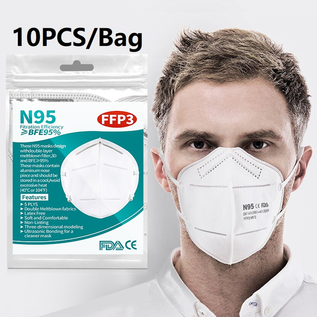Italiano 800pcs face masks 5 Layers FFP3 N95 Mask Particulate Mouth Mask Filter masks fast Europe delivery 1