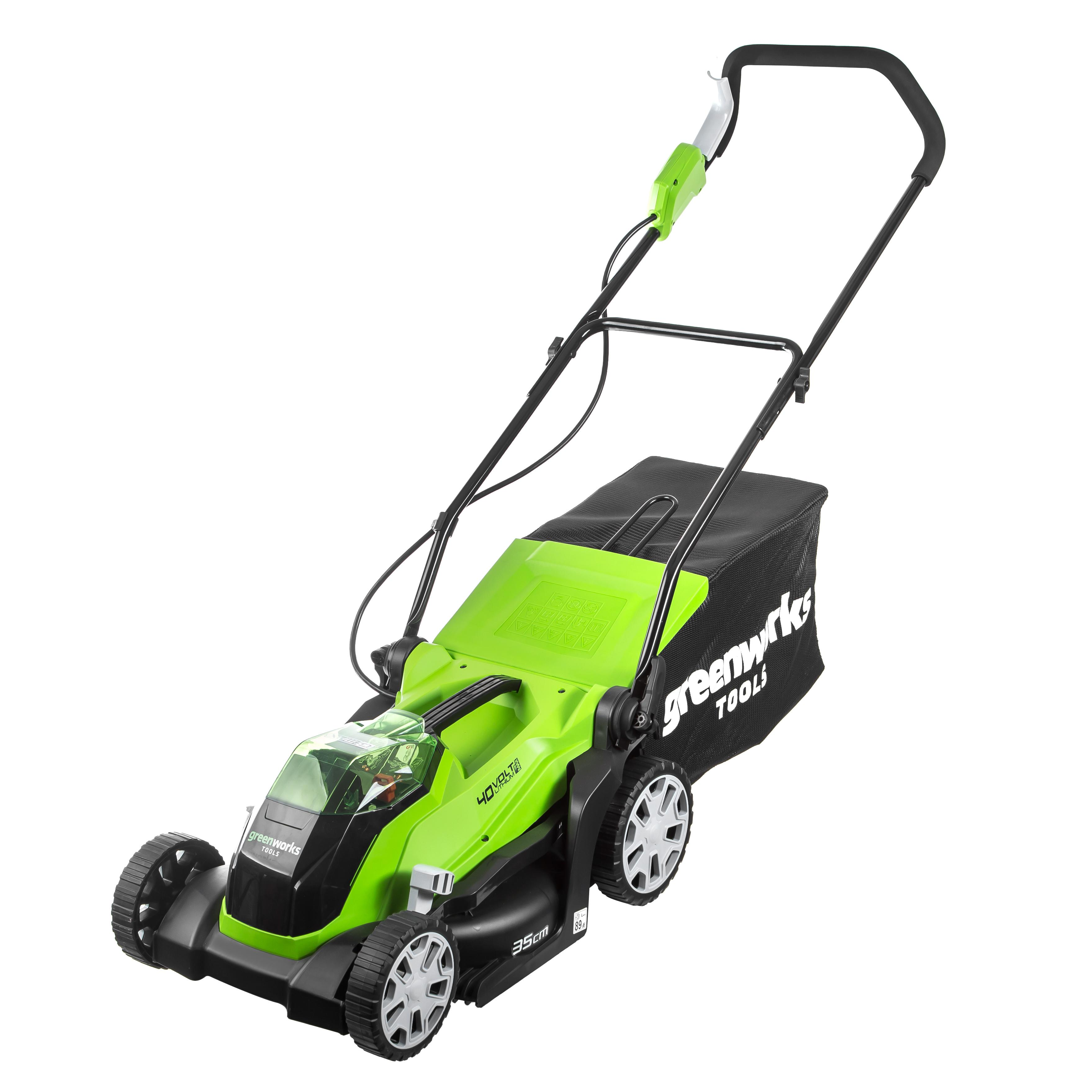 Rechargeable газонокосилка GreenWorks G40lm35k2 (2501907ua) 1x40 V 2AH Zu