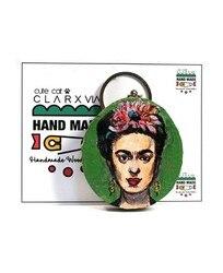 Frida Kahlo ручной работы расписанный вручную Деревянный винтажный Ретро Большой брелок