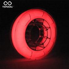 3D Printer PLA Luminous Color Filament Glow In The Dark Red Dimensional Accuracy +/  0.05mm, 1KG Spool, 1.75mm Luminous Red