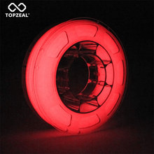 طابعة ثلاثية الأبعاد PLA خيوط ملونة مضيئة يتوهج في دقة الأبعاد الحمراء الداكنة +/  0.05 مللي متر ، بكرة 1 كجم ، 1.75 مللي متر أحمر مضيء