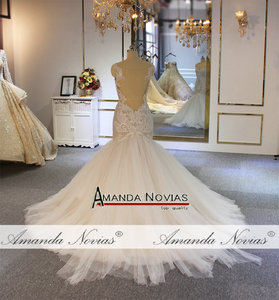Image 2 - Amanda Novias mermaid wedding gown special lace beading bridal dress