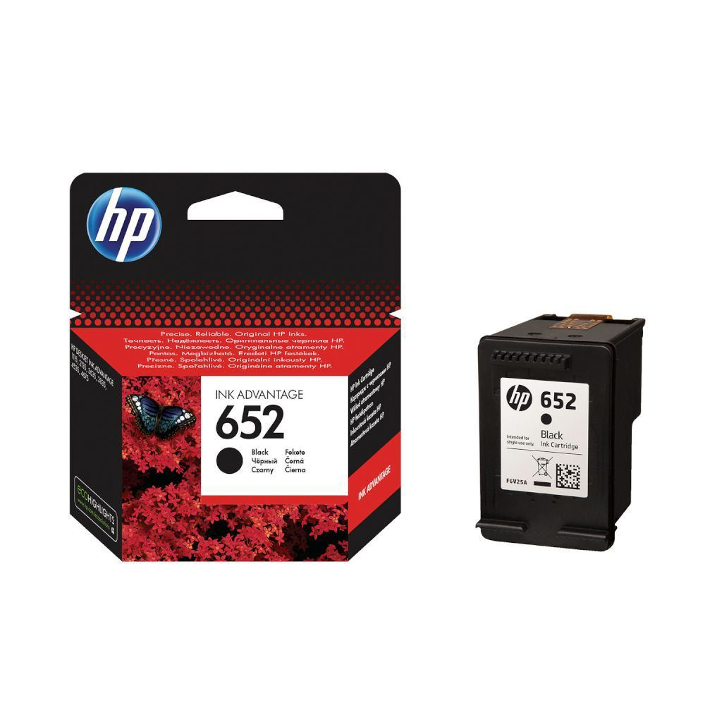 FOR <font><b>HP</b></font> <font><b>652</b></font> BLACK <font><b>INK</b></font> <font><b>CARTRIDGE</b></font> (F6V25AE) image