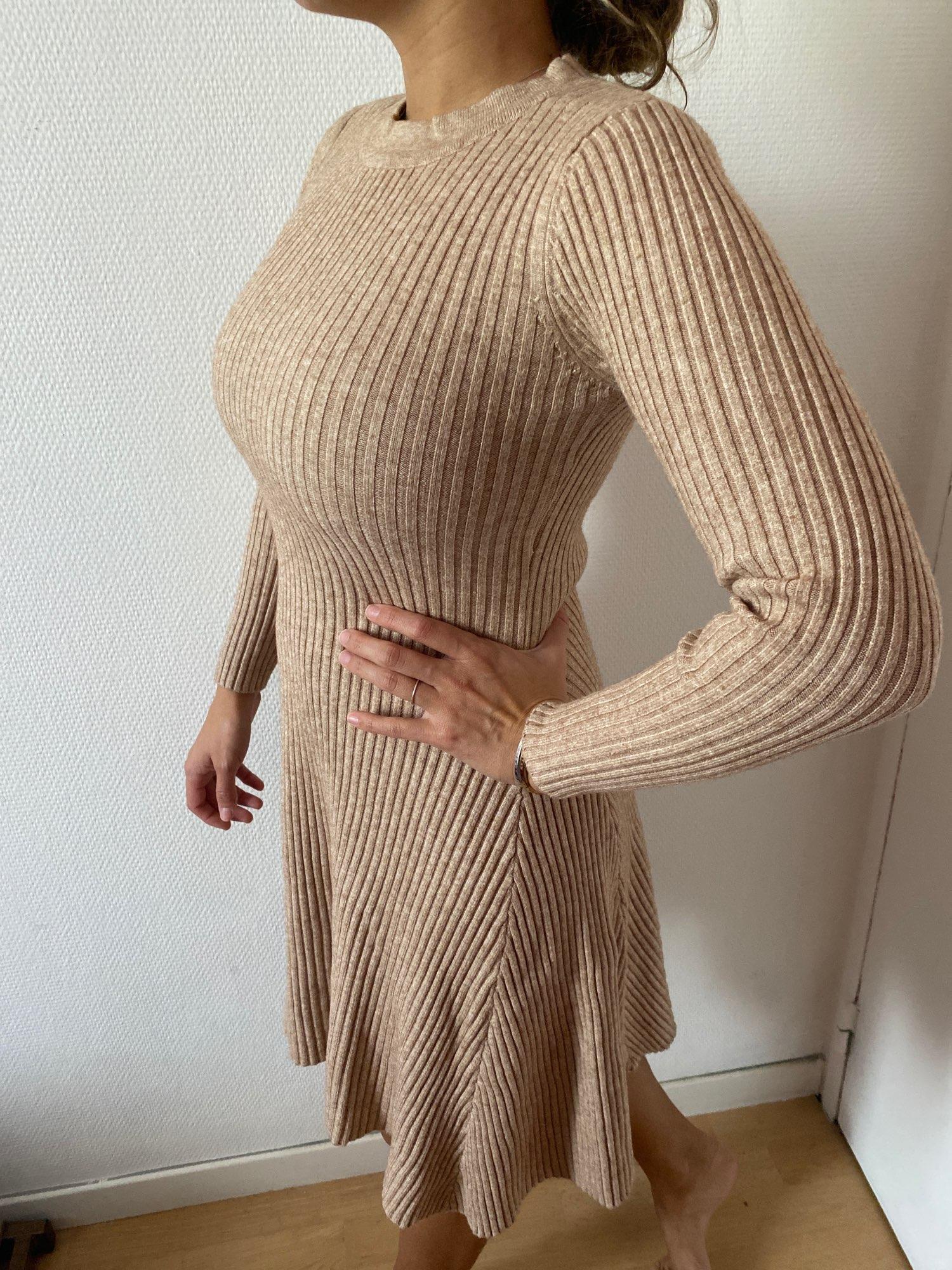 Women Long Sleeve Sweater Dress Women's Irregular Hem Casual Autumn Winter Dress Women O neck A Line Short Mini Knitted Dresses|Dresses|   - AliExpress