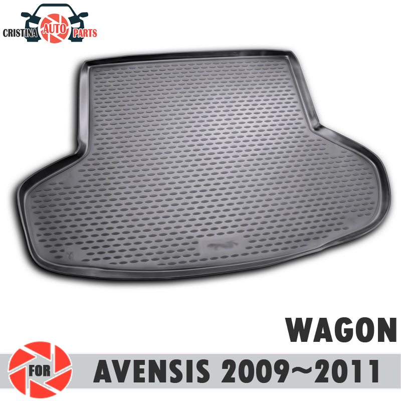 Trunk mat for Toyota Avensis 2009~2011 WAGON trunk floor rugs non slip polyurethane dirt protection interior trunk car styling trunk mat for toyota camry 2018 trunk floor rugs non slip polyurethane dirt protection interior trunk car styling decoration