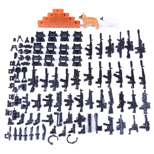 LEQUMOC Military Weapon Gun Set Rifle Pistol Mortar Soldier Accessories Figures Blocks Toys Hobbies Militarys Weapons Swat Team(China)