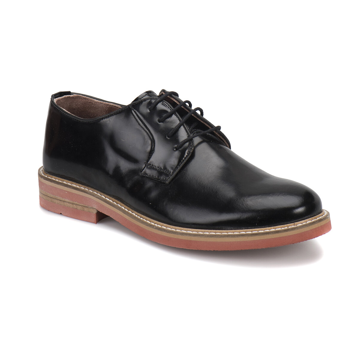 FLO 5954-1 M 1506 Black Male Modern Shoes Cordovan