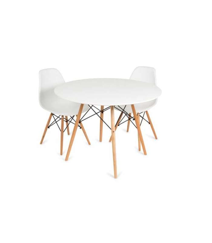 White Round Table Model Vandyk And Legs Hague.