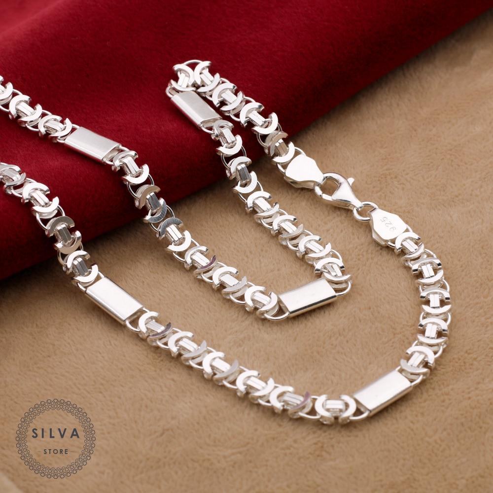 Купить серебряное ожерелье с кулоном Silva на Алиэкспресс