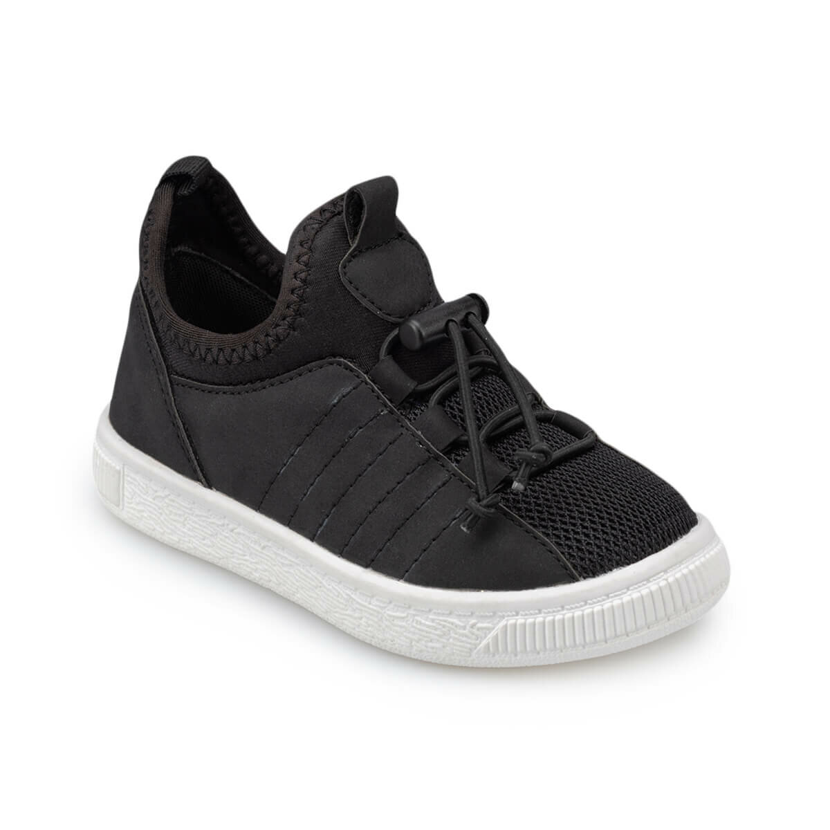 FLO 91.511107.P Black Male Child Sneaker Shoes Polaris