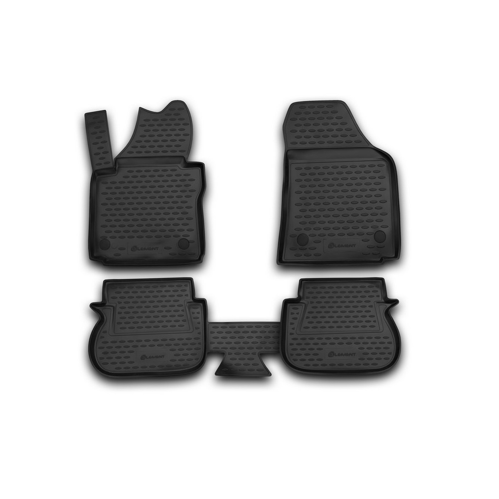 Floor Mats For VW Caddy 10/2007-2014, Two. 4 PCs NLC.51.37.210k