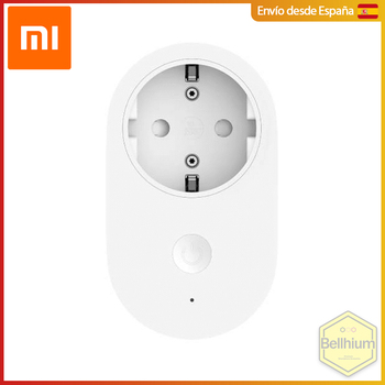 XIAOMI Mi Smart Plug - Enchufe inteligente para dispositivos Android o iOS, controla con Alexa o Google Home, con interruptor