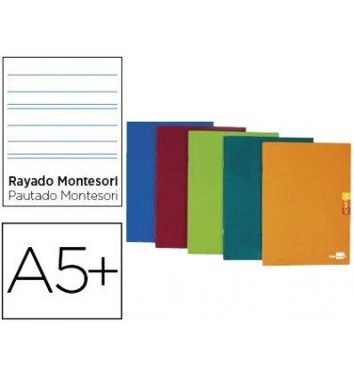 NOTEPAD LEADERPAPER SCRIPTUS A5 PLUS 48 SHEETS 90G/M2 STRIPED MONTESSORI 5MM MARGIN ASSORTED Color 5 Units