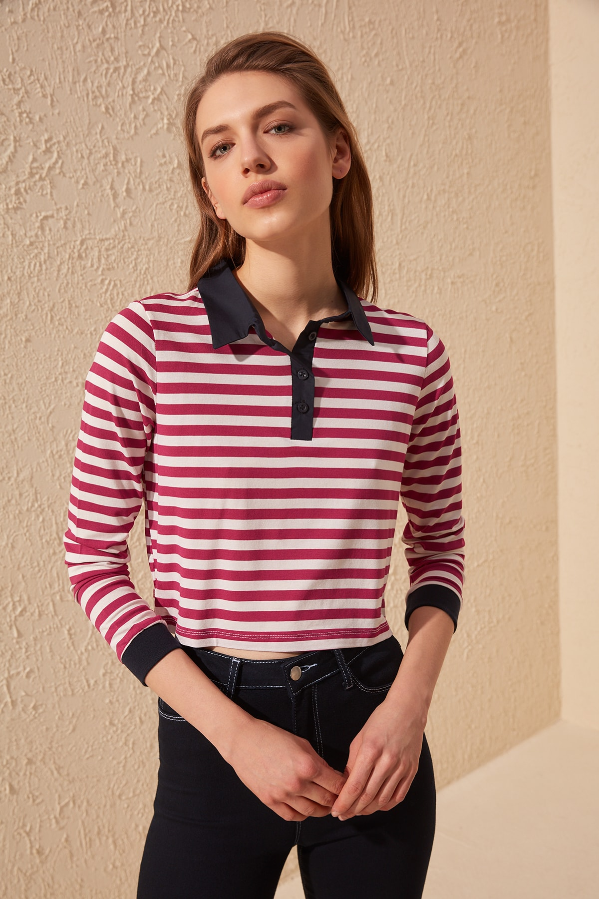 Trendyol Striped Knitted Blouse TWOSS20BZ0201