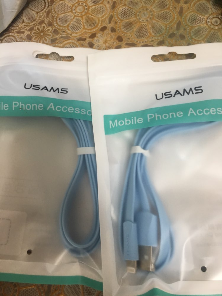 USAMS USB Phone Cable for iPhone XR XS Cable for iPad iPhone 6 7 8 plus Data Sync USB 2A Charging Cable for iOS 12 11 Apple|Mobile Phone Cables|   - AliExpress