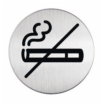 Pictogram do not smoke, diameter 83mm silver