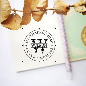 RETURN ADDRESS STAMP, Custom Return Address Stamp, Self Inking Return Address Stamp, Custom family name Address ink Stamp фото