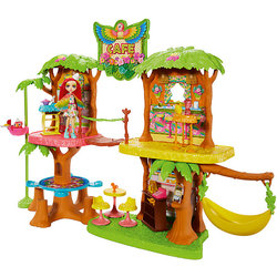 Game set Enchantimals Пикки Cockatoos and jungle cafe