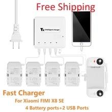 Xiaomi Fimi X8 SE Drone зарядное устройство 6в1 мульти зарядное устройство интеллектуальное умное зарядное устройство с usb-портом для управления