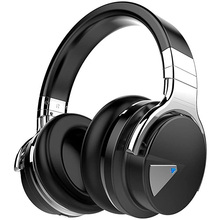 E7 Active Noise Cancelling Bluetooth Headphones with Microphone Wireless Headphones Over Ear 30H Playtime for Travel Work TV samson professional z35 closed back studio headphones high protein leather comfortable over ear studio monitor headphones