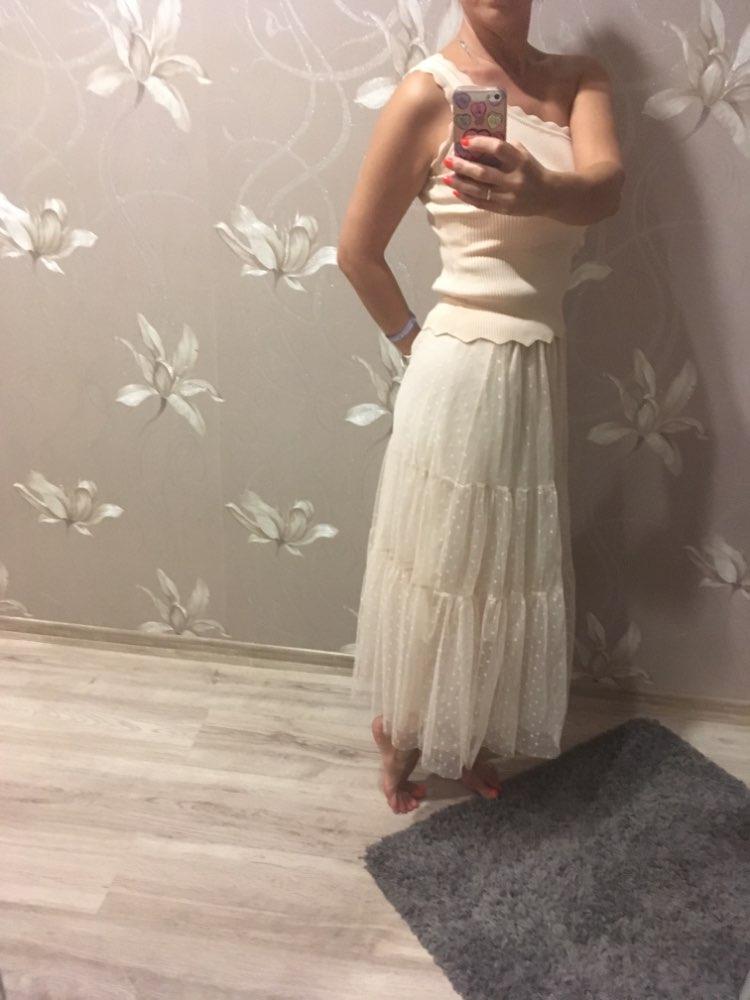 Summer  Long Pleated Skirts Womens Casual Loose Skirt High Waist Elascity Faldas Party Skirt Streetwear Jupe Femme Saias photo review