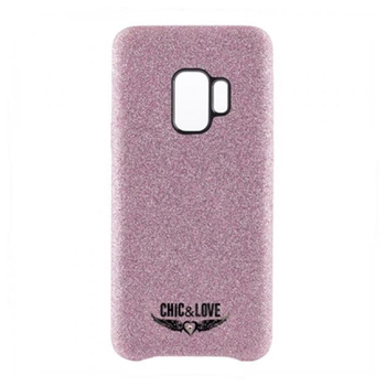 Coque Samsung S9 Chic & amour CHCAR007 paillettes rose