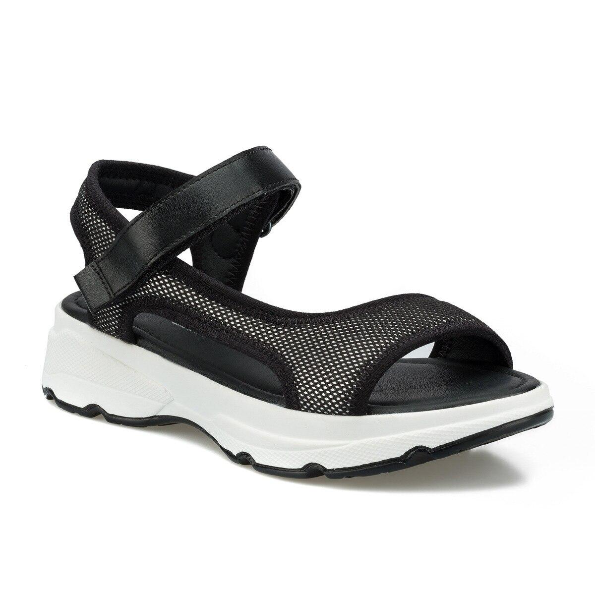FLO Black White Women Sandals 2020 Sandals Women Fashion Breathable Comfort Ladies Sandals Summer Shoes Sandal Polaris 315501.Z