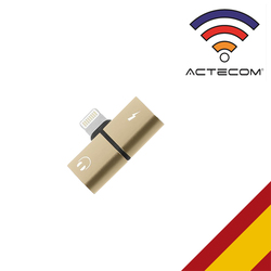 ACTECOM Adaptador 8 Pin совместимый con iPhone Carga Y Audio Auriculares Cascos одновременное