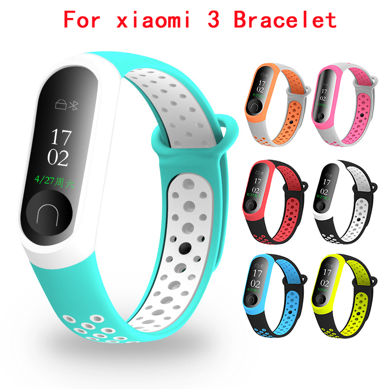 10 Colors Wristband Watch Band For Millet Bracelet 3 4Silicone Smart Sports Bracelet For Xiaomi Mi Band 3 Fitness Bracelet Strap