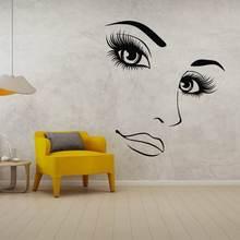 Сохраняйте спокойствие и ресниц на брови силуэт стены стикеры
