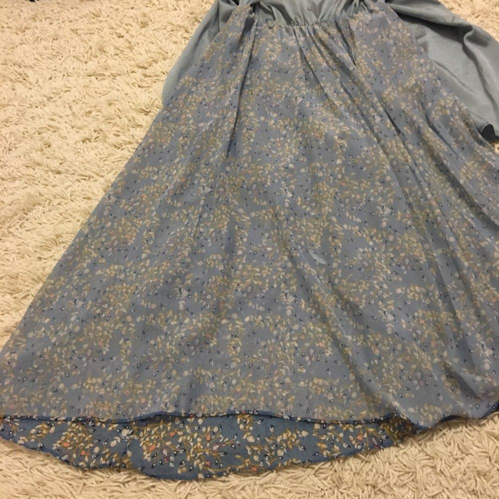 Autumn Winter Vintage Chiffon Floral Midi Dress Plus Size Maxi Boho Dresses Elegant Women Party Long Sleeve Dress Vestidos photo review
