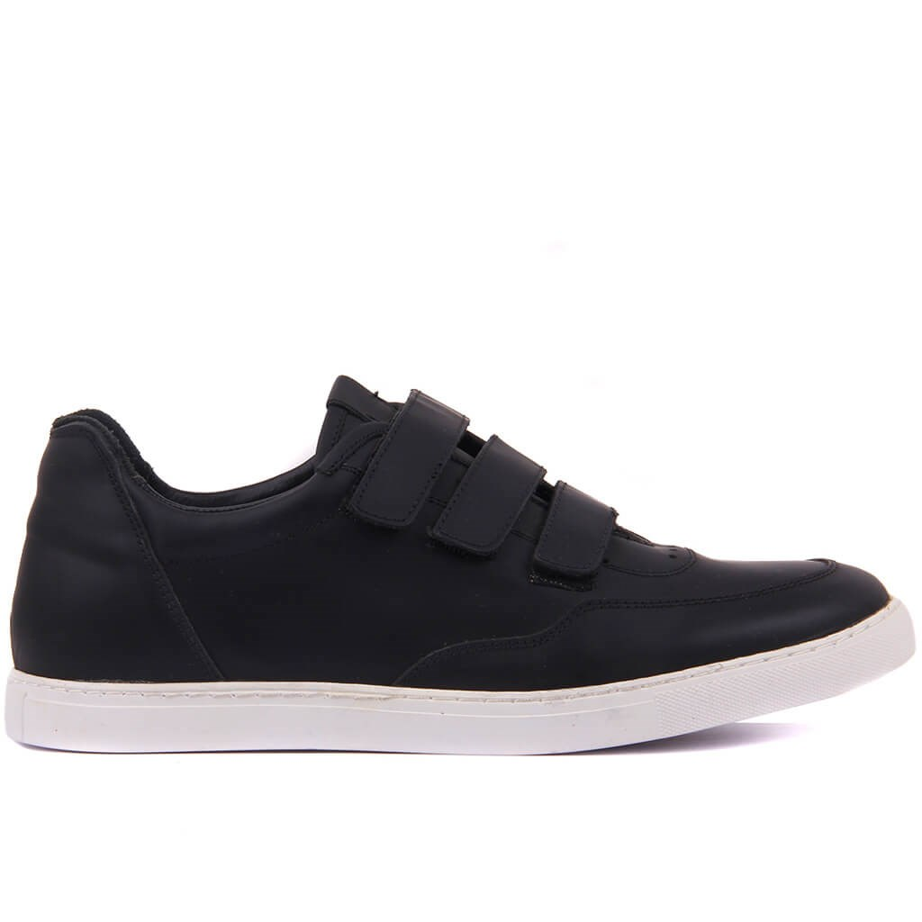 Sail-Lakers Black Leather Men Sneaker Casual Shoes