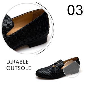 Image 4 - MEIJIANA Echtem Leder Männer Müßiggänger Schuhe Mode BV Atmungs Bequemen Männer Müßiggänger Luxus männer Wohnungen Männer Casual Schuhe