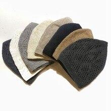Chapeaux de prière musulmane pour hommes, 12 pièces, vente en gros, tricot en coton, tête de mort, solide, 02