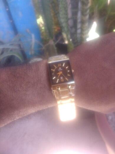 Relógio de Quartzo Exclusivo Linha Premium À Prova D'água Lançamento photo review