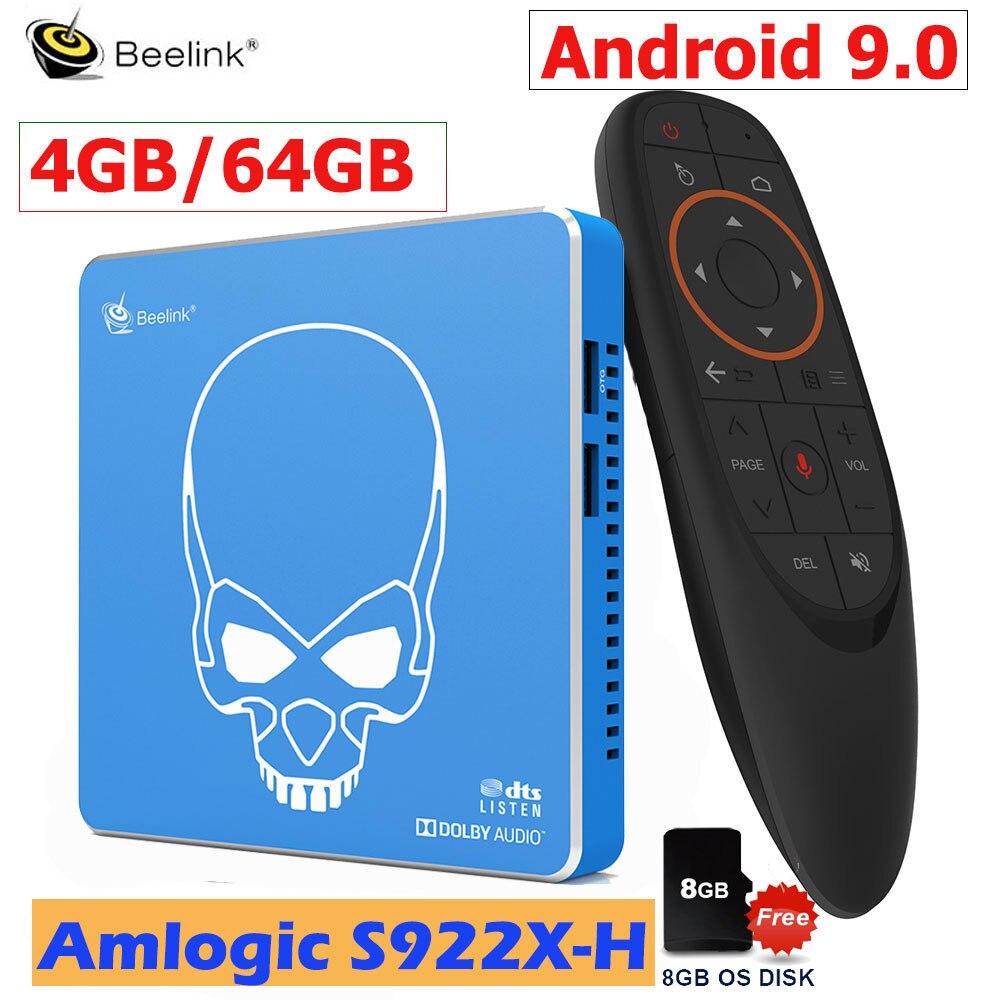 Beelink GT-KING PRO умная ТВ-приставка Android 9,0, 4 Гб DDR4 64 Гб ROM Dolby Audio DTS, прослушивание 4K HD, Hi-Fi, медиаплеер