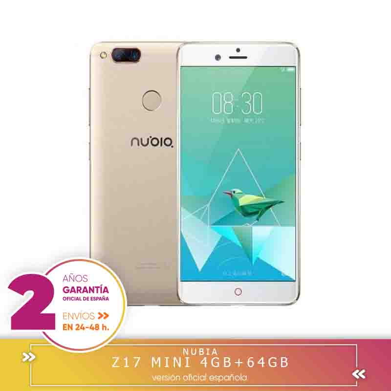 "-Square Warranty-Nubia Z17 Mini 4G mobile tags Smartphone Qualcomm Snapdragon 652 Octa Core, 5.2 ""FHD 4 hard GB + 64 hard GB"