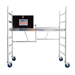 Scaffold folding in aluminum CT26 with platform with trapdoor