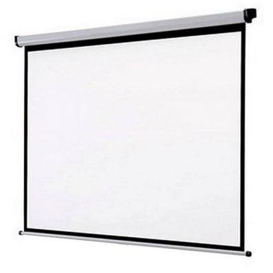 Ecran Mural environ (100) 180x180 à projecteur plafond/tissu Mural Blanca mat et noir mat