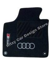 Alfombrillas de lujo para coche, para Audi A1-A3-A4-A5-A6-A7-A8-Q2-Q3-Q5-Q7-Q8-TT-R8-e-tron