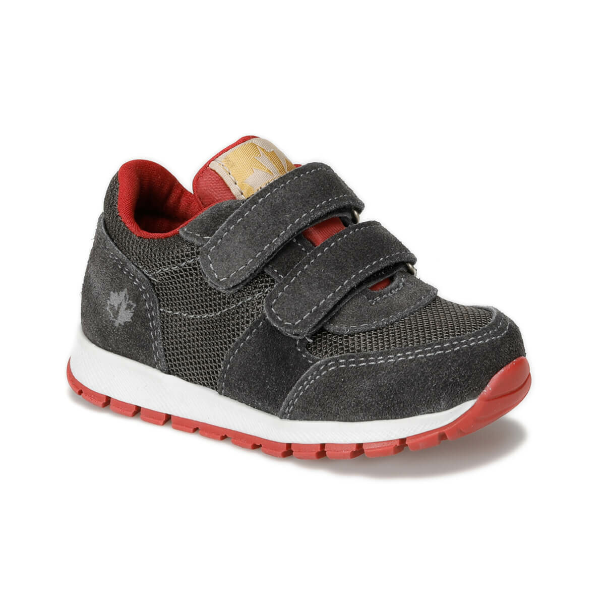 FLO TEXT 9PR Dark Gray Male Child Hiking Shoes LUMBERJACK