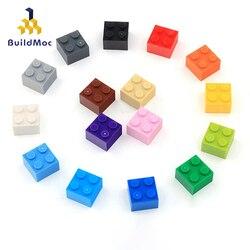 50pcs DIY Building Blocks Figures Thick Bricks 2x2 Dots Educational Creative Size Compatible With lego Plastic Toys for Children