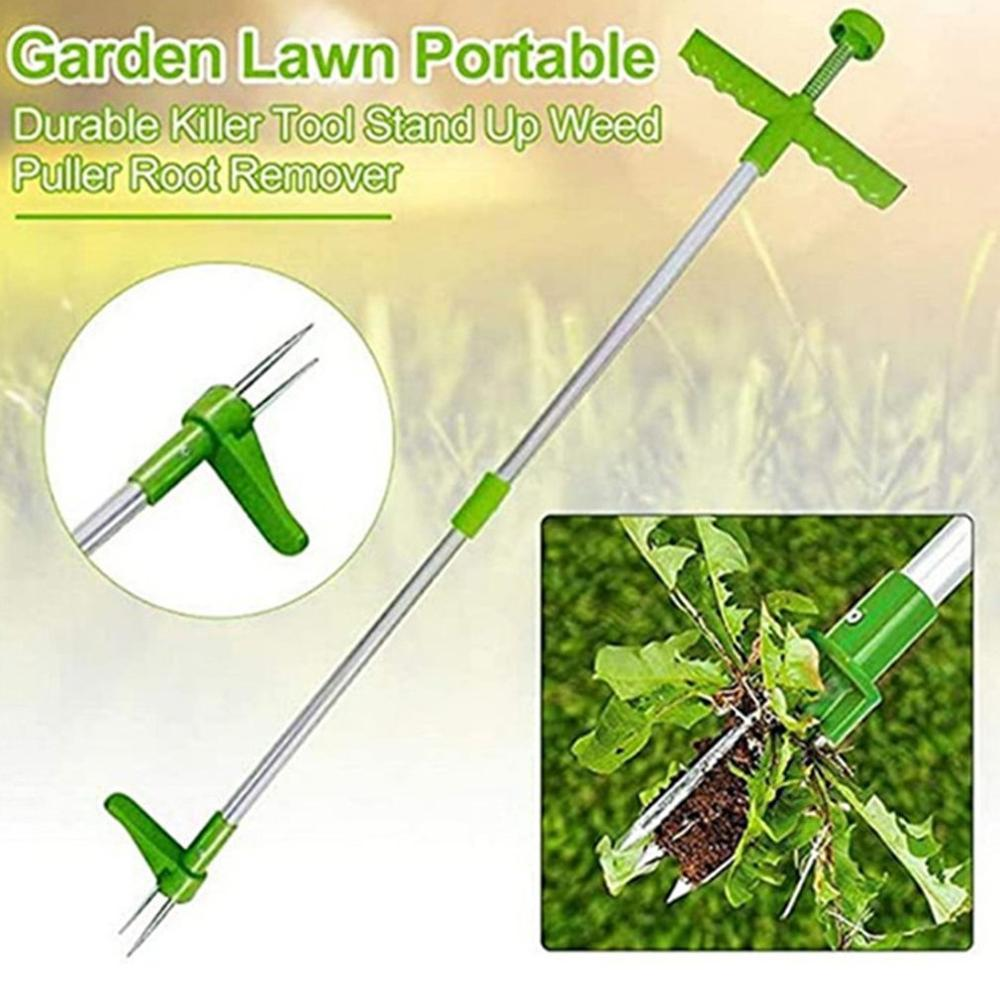Root Remover Outdoor Killer Tool Claw Weeder Portable Manual Garden Lawn Long Handled Aluminum Stand Up Weed Puller