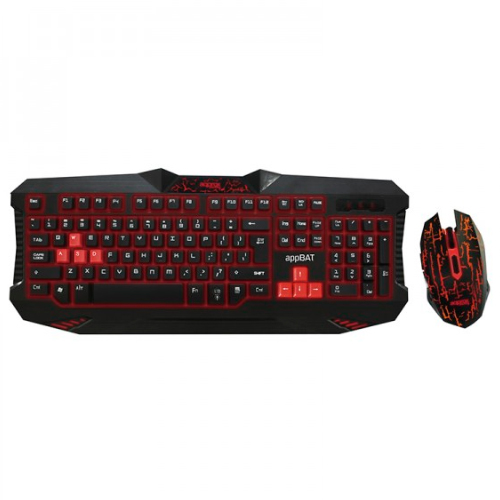 Pack Teclado AND Mouse Gaming Approx Appbat Teclado With Lighting Led 12 Keys Multimedia 8 Gaming Mouse 6botones 24