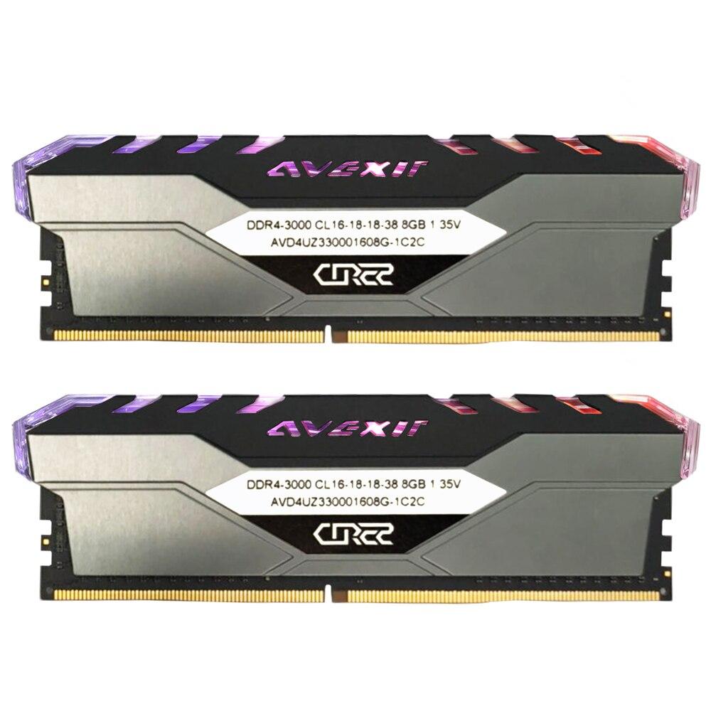 Avexir Core 2 ddr4 8GB 3000MHz RGB DIMM 32GB 2666MHz 3200mhz 3600mhz 16gb 32gb pc4 ram ordinateur de bureau de mémoire Support carte mère