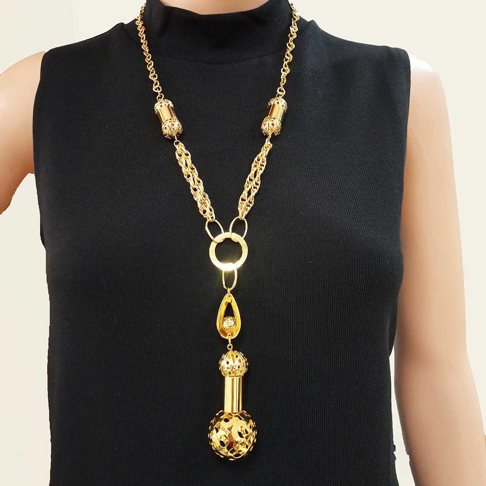 Naszyjnik dla kobiet naszyjnik charms choker Vintage okrągły długi naszyjnik hurtownia