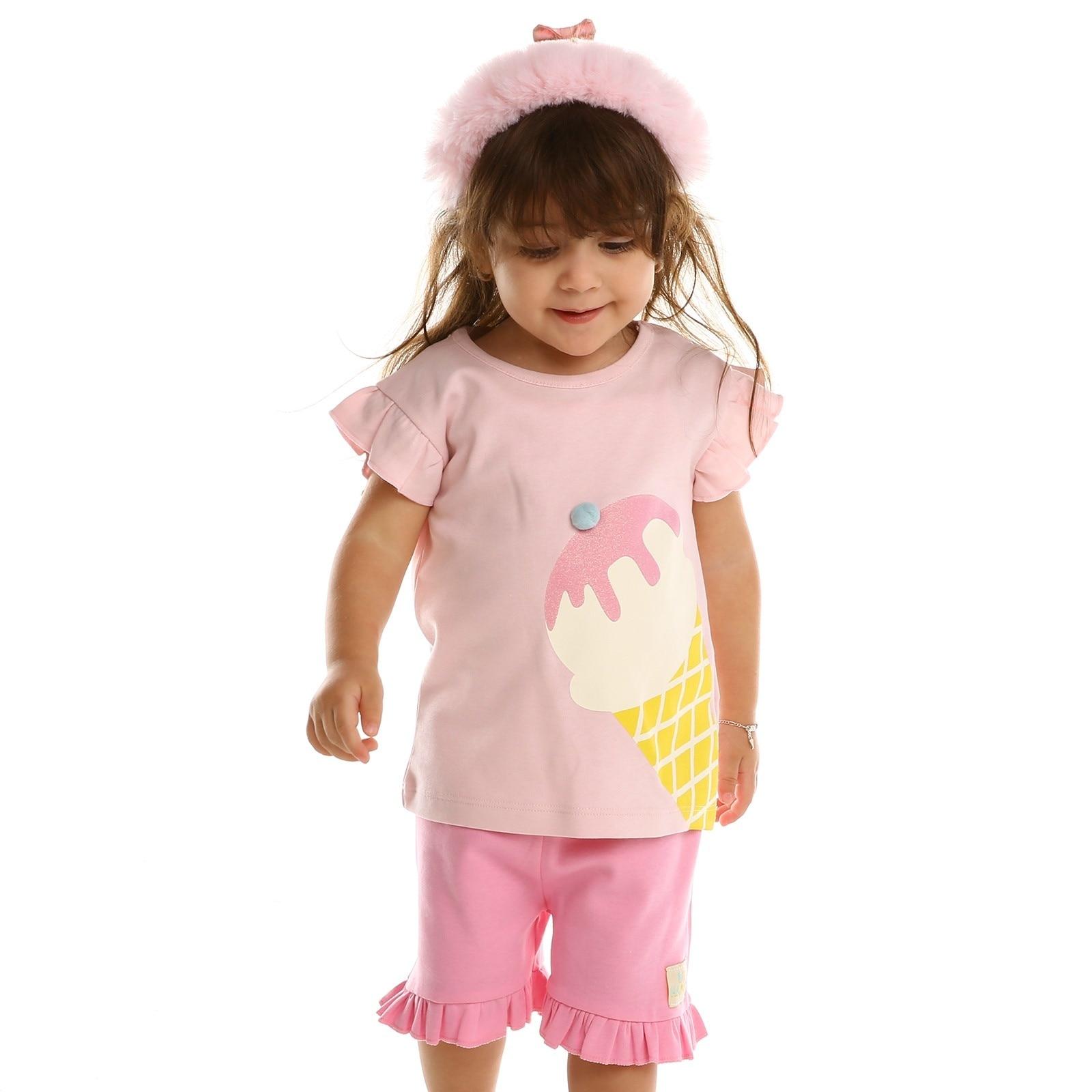 Ebebek HelloBaby Summer Baby Sweet Fruits T-shirt Short Set