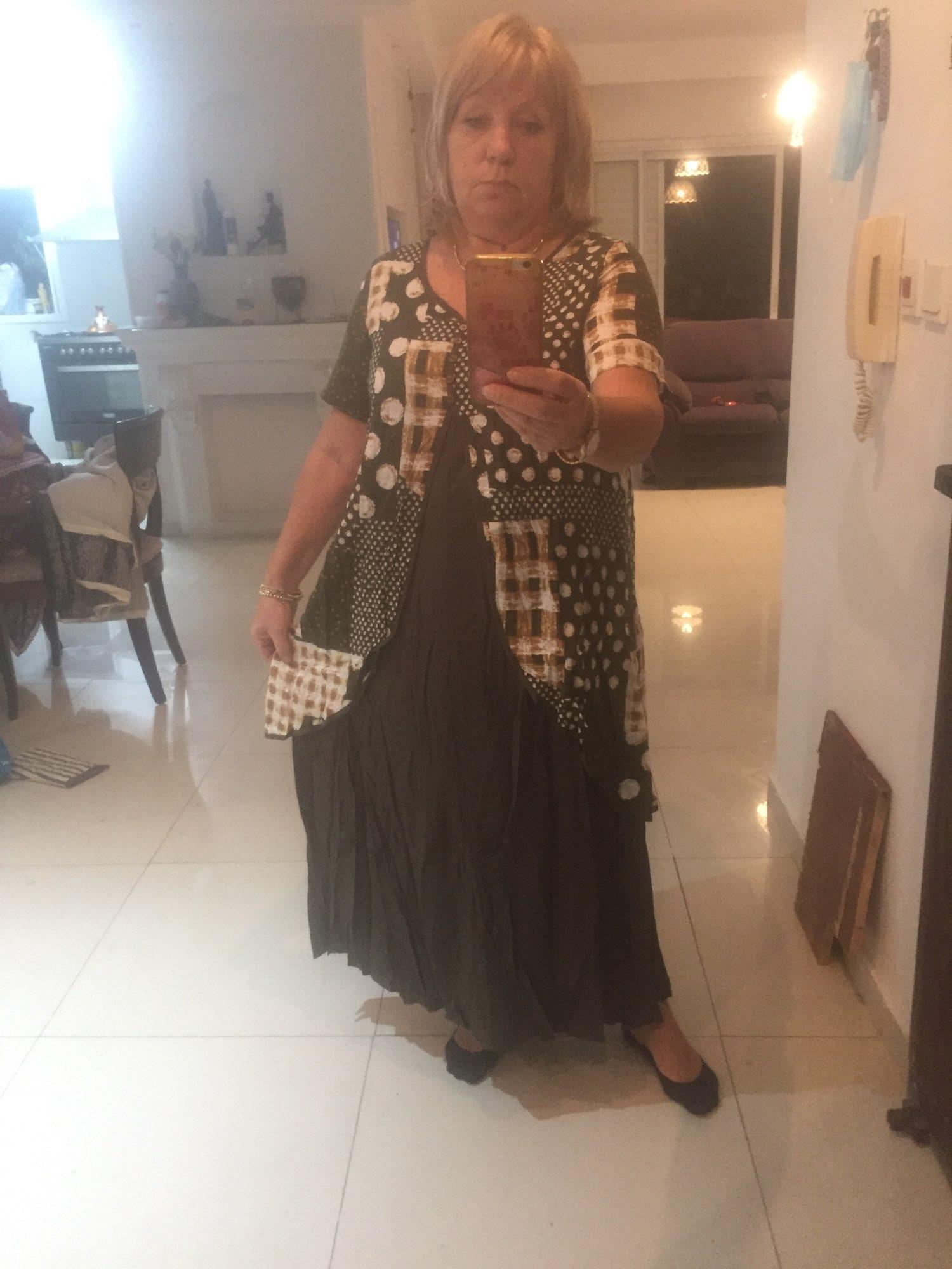 2021 ZANZEA Maxi Long Dress Autumn Summer Dress Women Polka Dot Print Patchwork SundressPleated Plus Size Sexy V Neck Vestidos reviews №2 508665